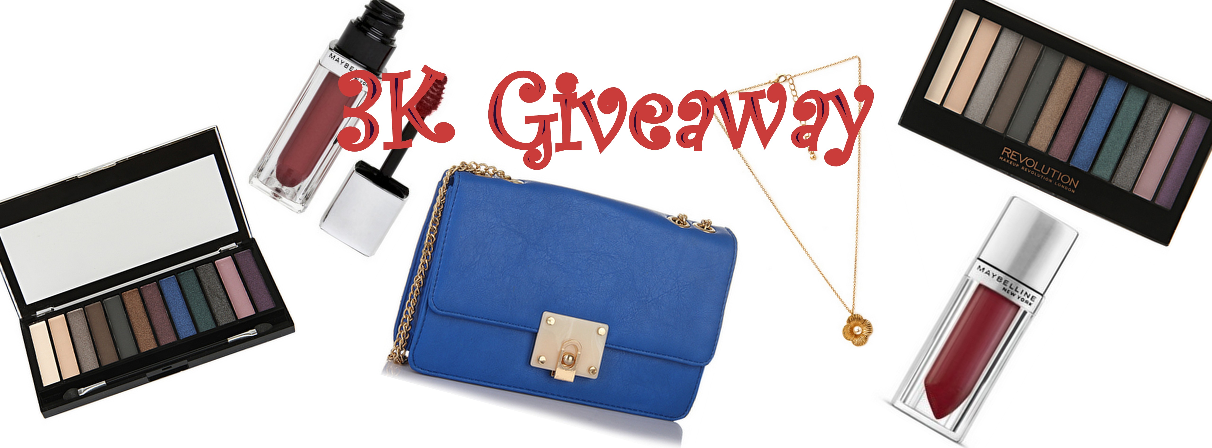Giveaway for crossing 3K likes on FB