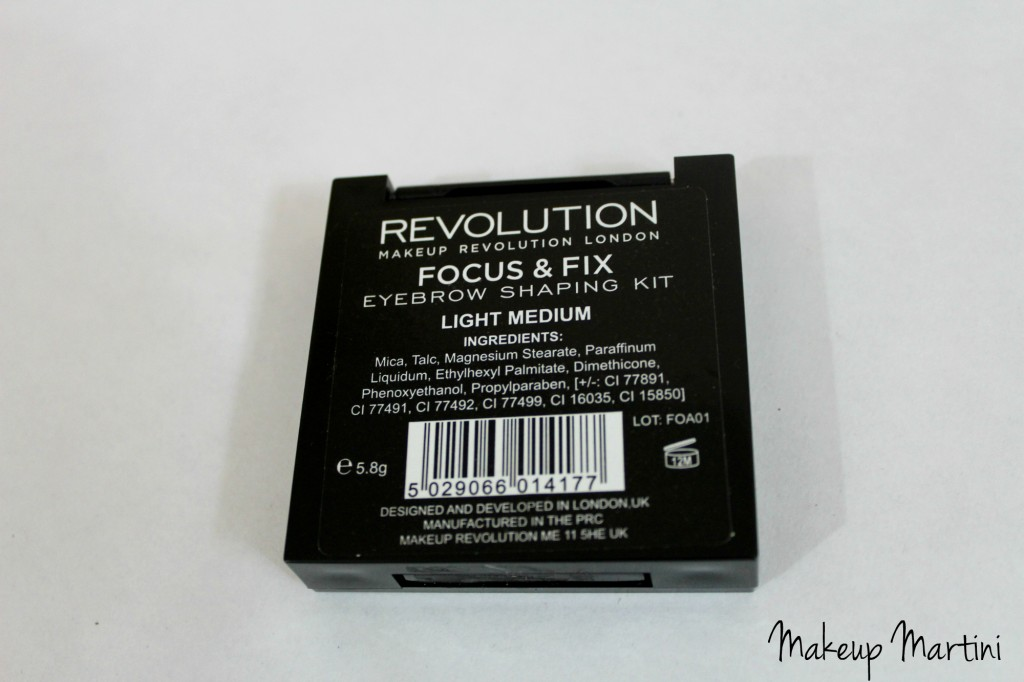 Makeup Revolution Focus and Fix Brow Kit Review