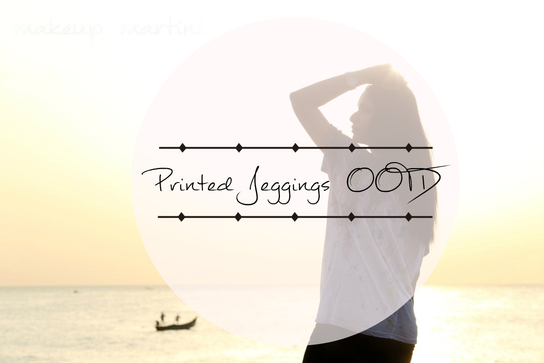 Printed Jeggings OOTD