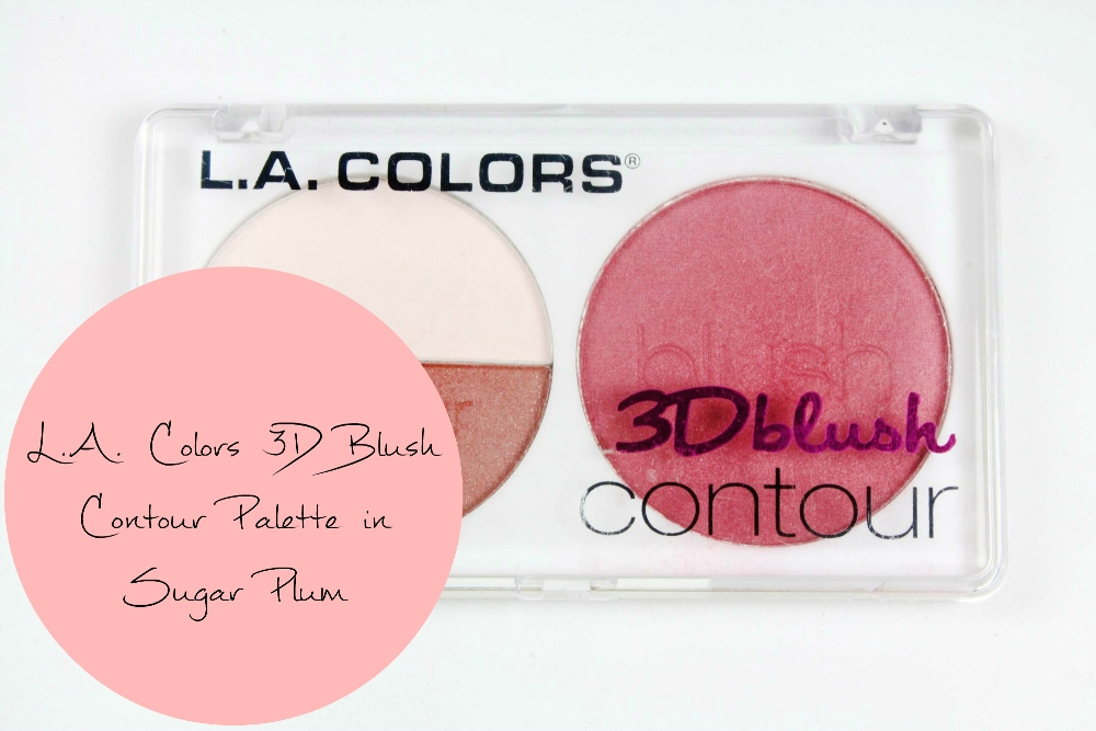 LA Colors 3D Blush Contour Palette in Sugar Plum fot