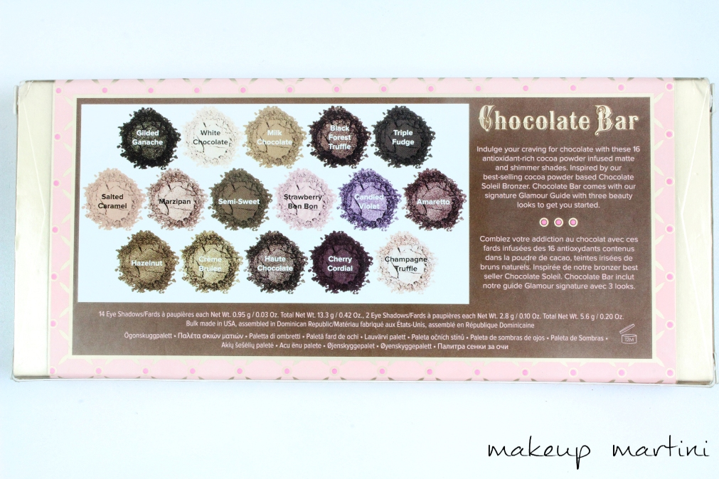 Too Faced Chocolate Bar Palette Review and Swatches b