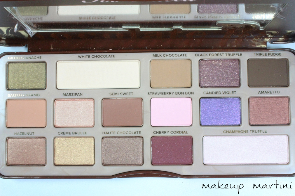 Too Faced Chocolate Bar Palette Review and Swatches shades