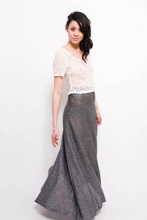 lace top maxi skirt