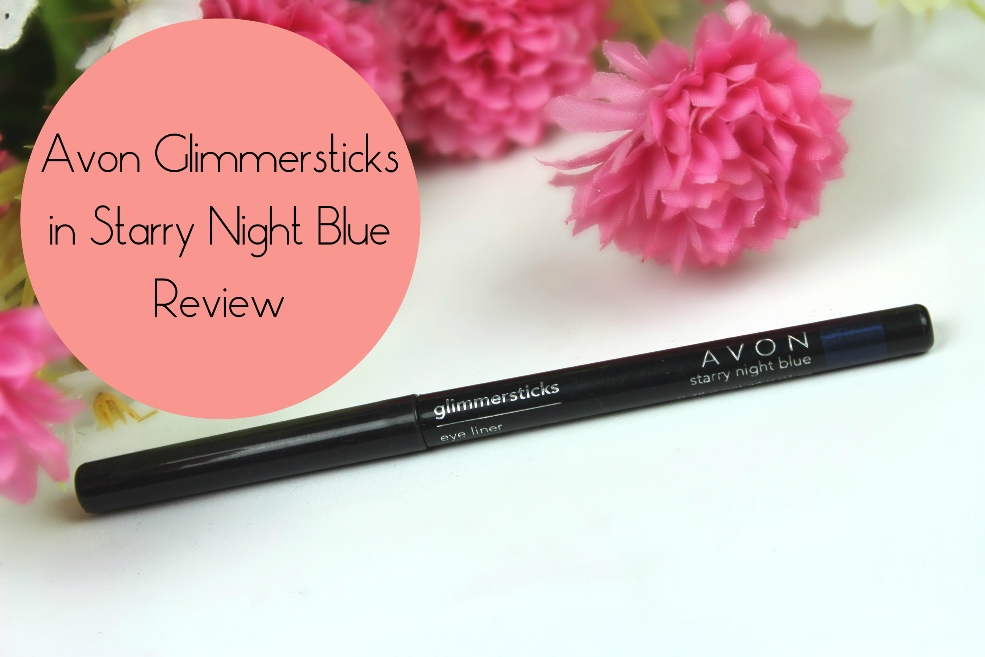 Avon Glimmersticks in Starry Night Blue Review fotor