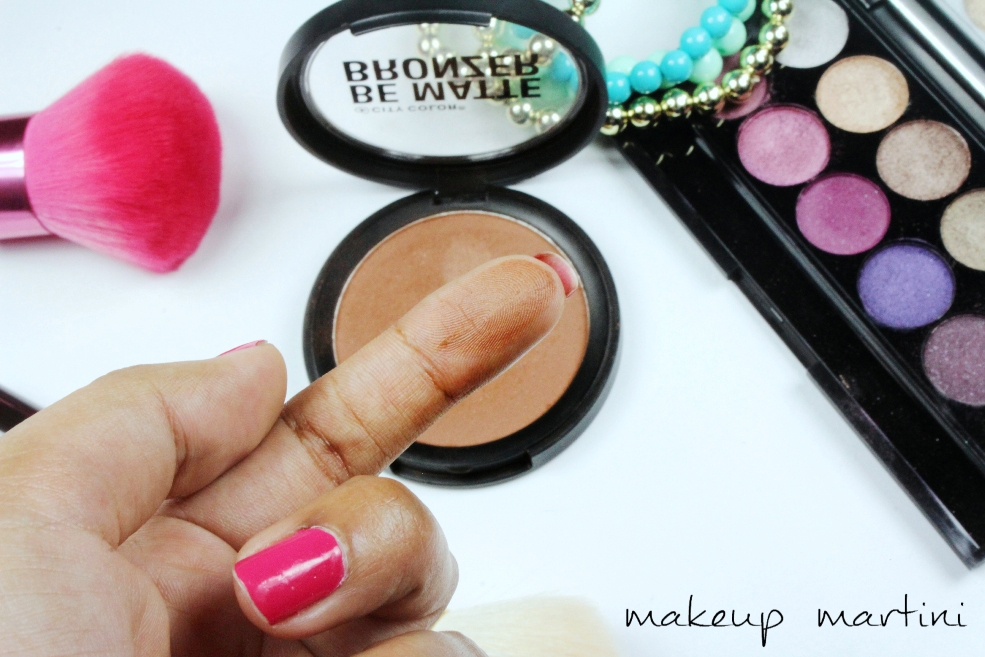 City Color Cosmetics Be Matte Bronzer Chocolate Truffle Swatch (2)