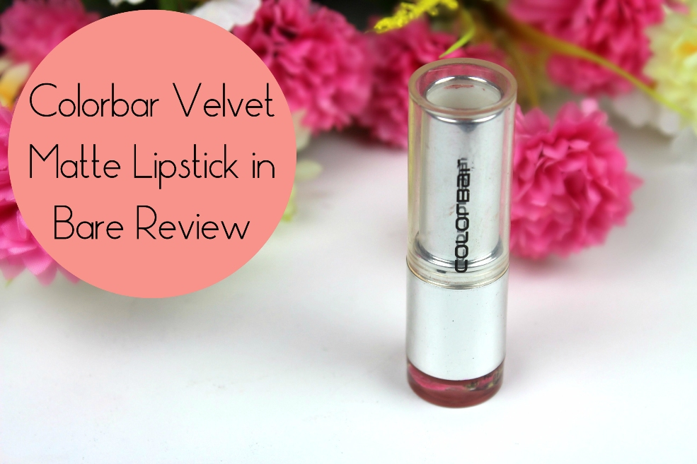 Colorbar Velvet Matte Lipstick in Bare Review Fotor