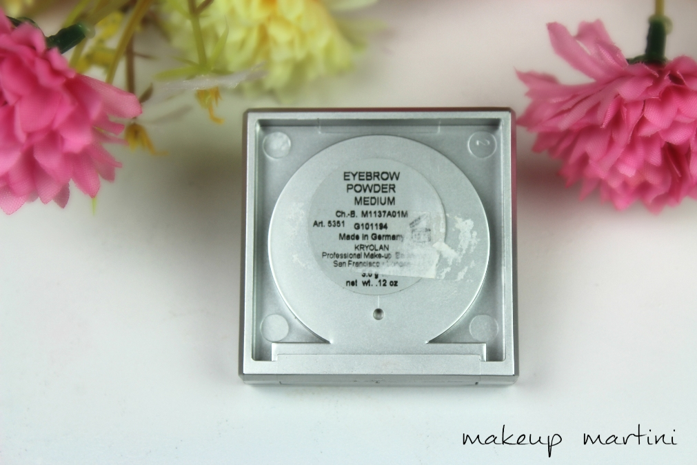 Kryolan Eyebrow Powder in Medium Review & Swatches