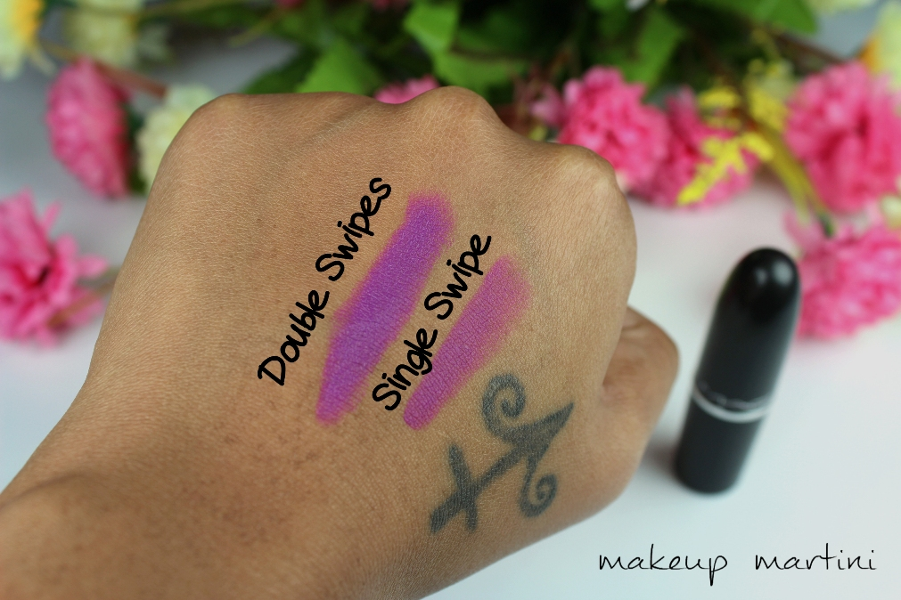 MAC Heroine Lipstick Swatches