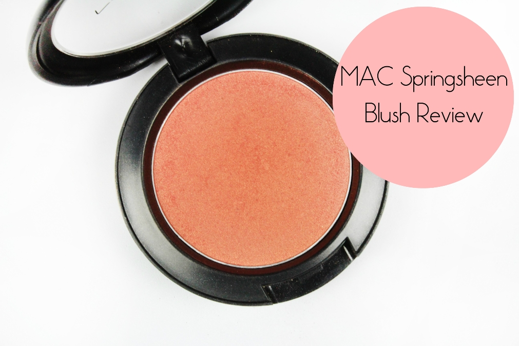 MAC Springsheen Blush Review Fotor