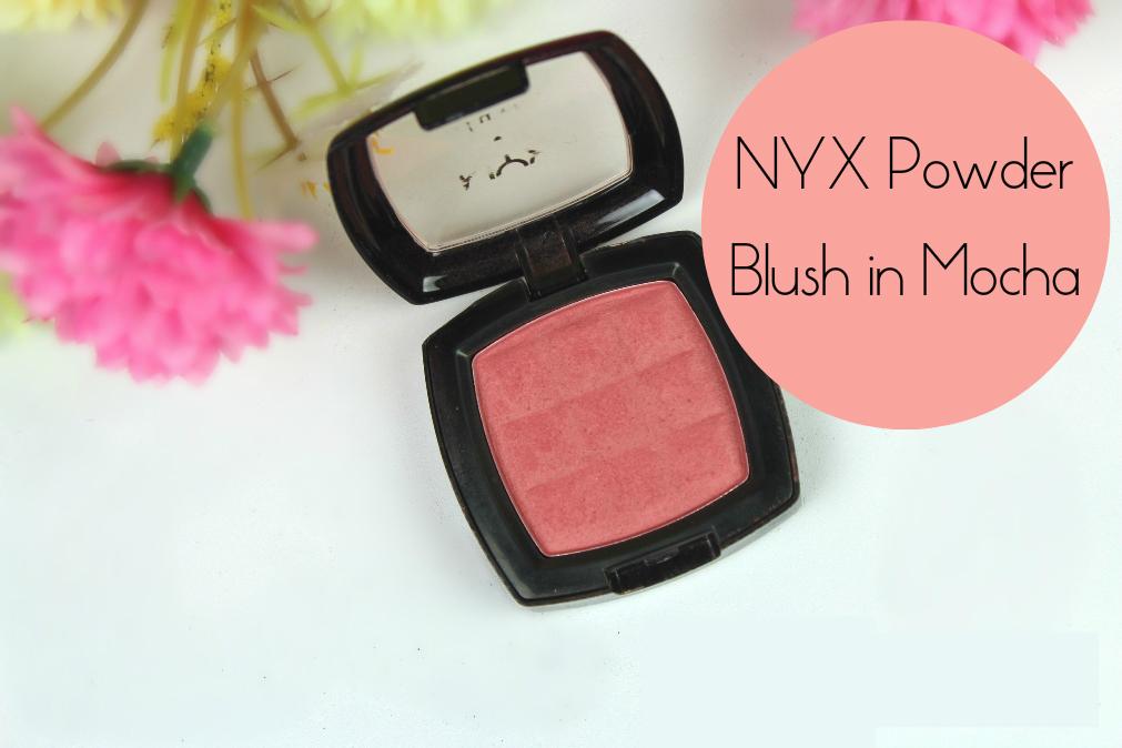 NYX Powder Blush in Mocha Review Fotor