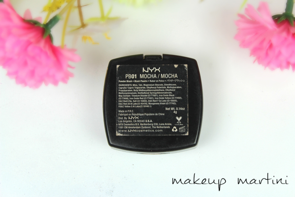 NYX Powder Blush in Mocha Review and Swatches