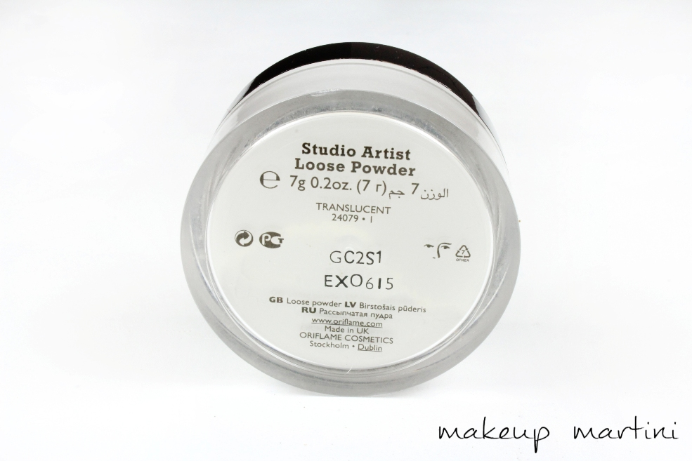 Oriflame Studio Artist Loose Powder Review
