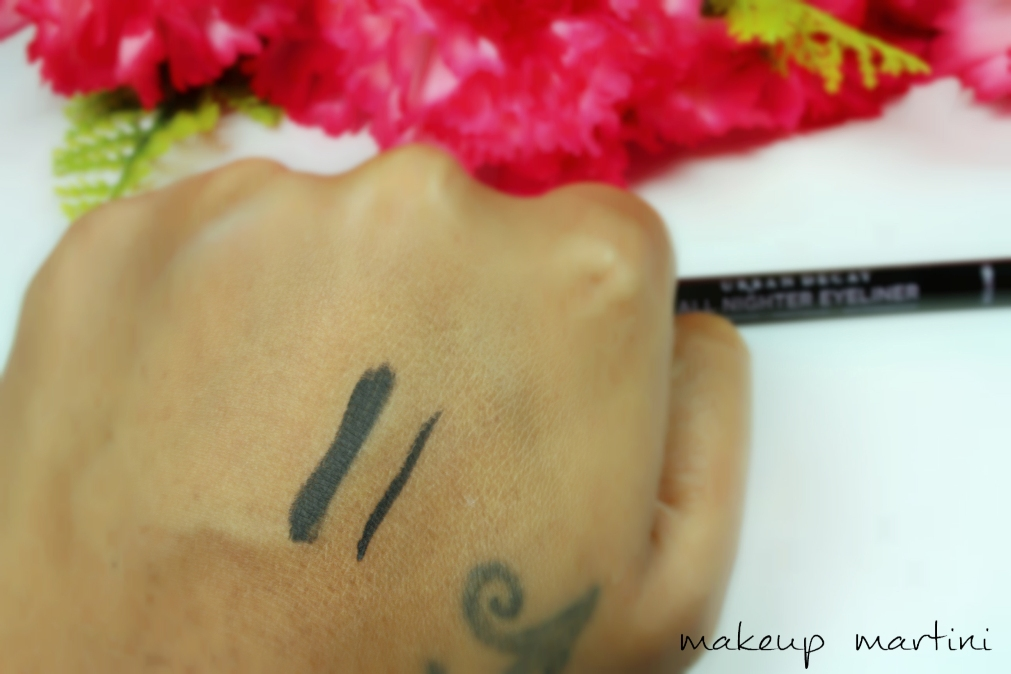 Urban Decay All Nighter Eyeliner in Perversion Review Swatch
