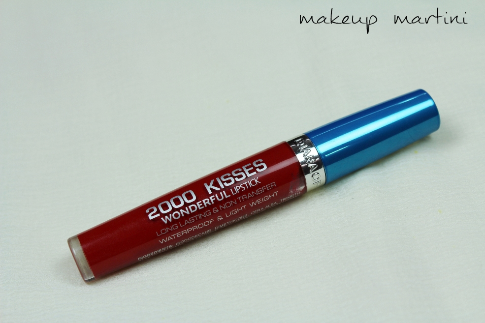 Diana Of London 2000 Kisses Wonderful Lipstick in Crimson Red Review (1)