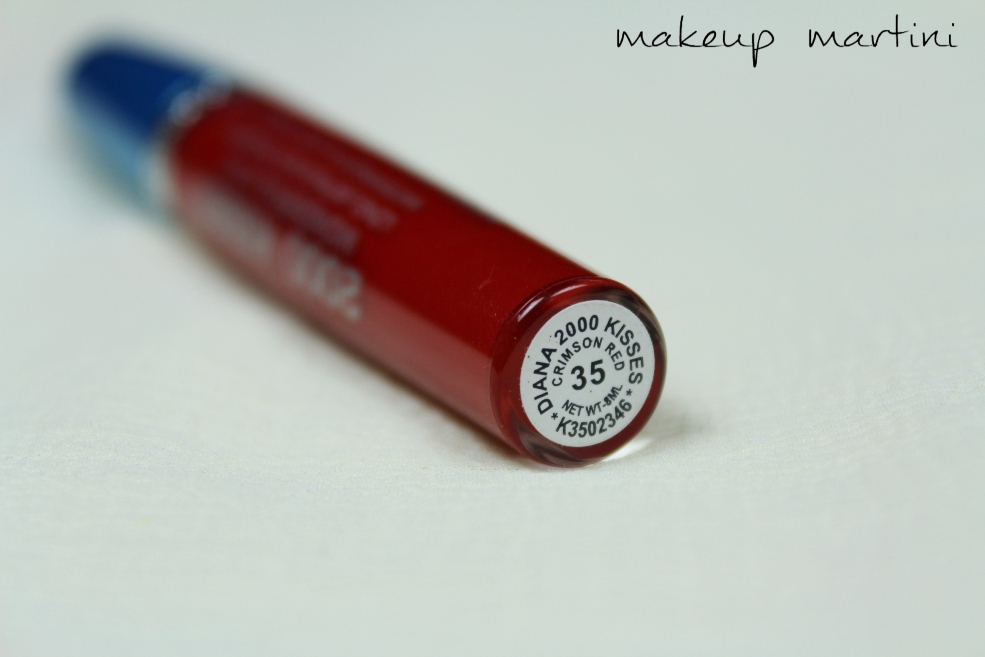 Diana Of London 2000 Kisses Wonderful Lipstick in Crimson Red Review (2)