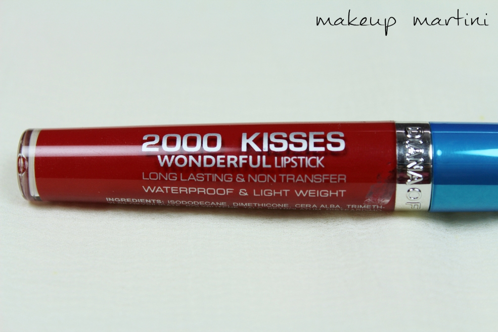 Diana Of London 2000 Kisses Wonderful Lipstick in Crimson Red Review (4)