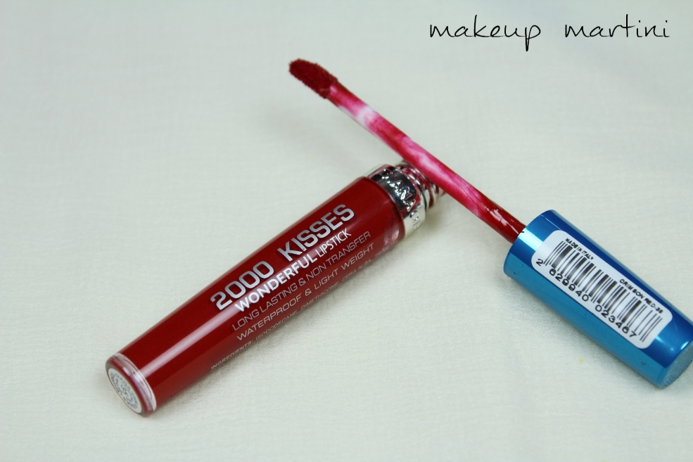Diana Of London 2000 Kisses Wonderful Lipstick in Crimson Red Review (5)