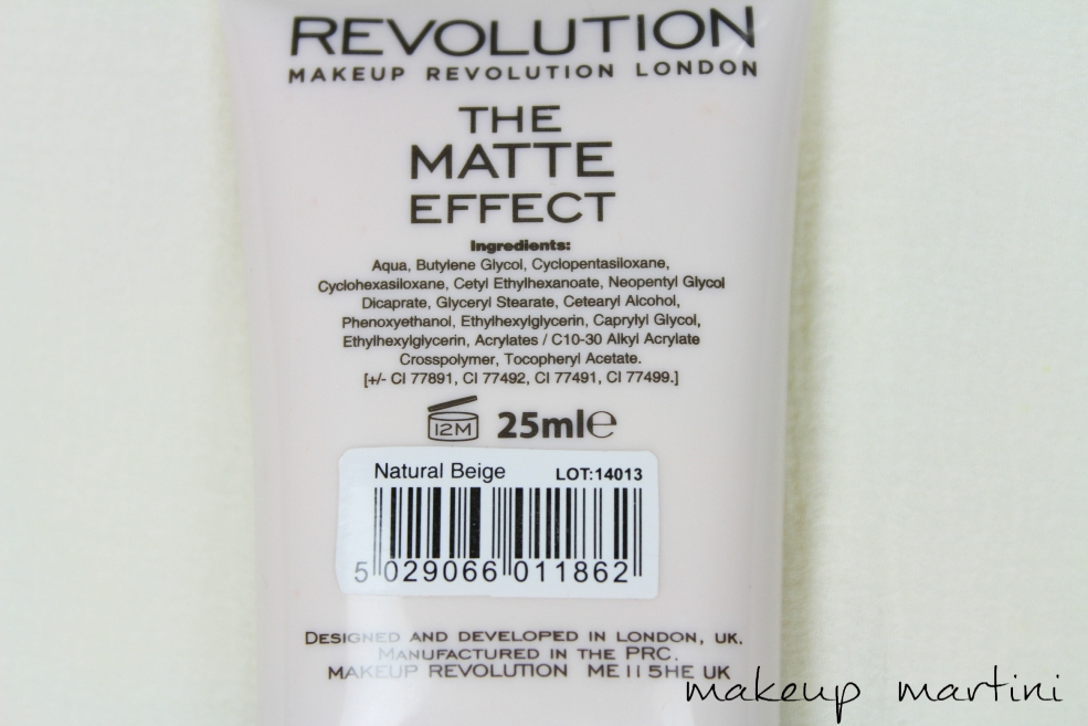 Makeup Revolution London The Matte Effect Foundation Review (4)