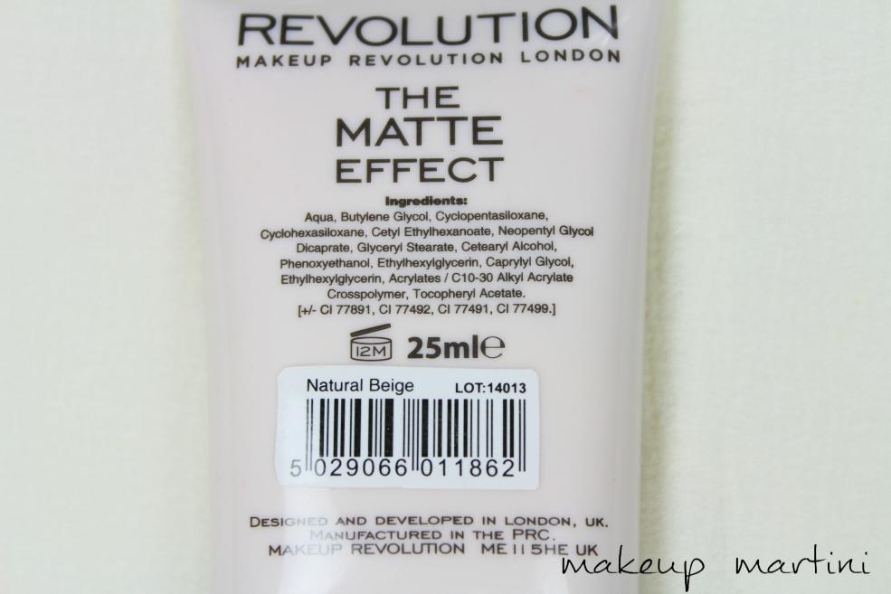 Makeup Revolution London The Matte Effect Foundation Review (4)