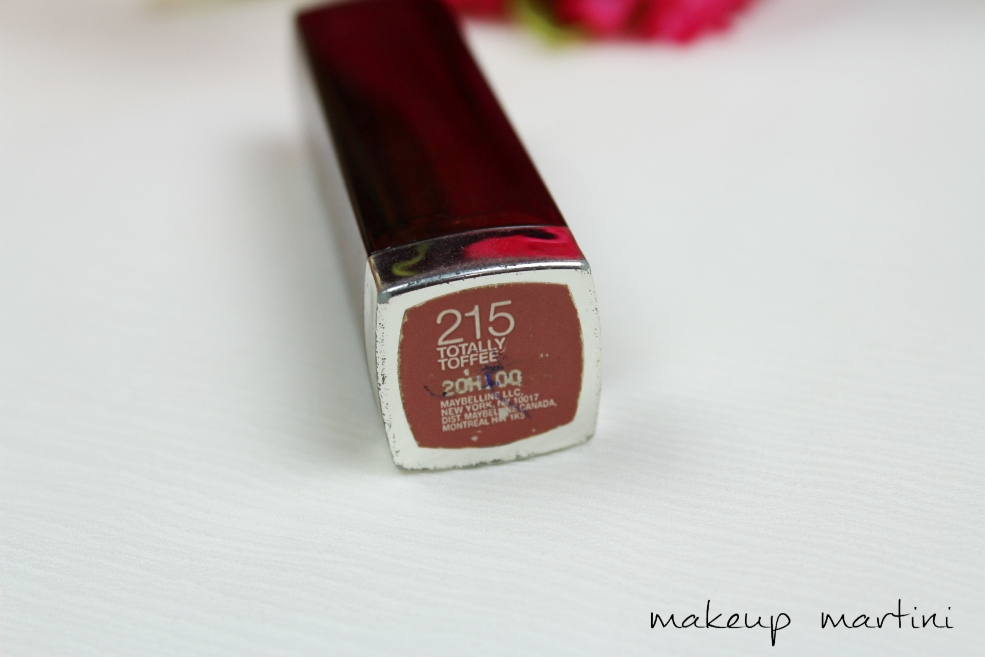 Maybelline Color Sensational Lipstick Totally Toffee Review (3)