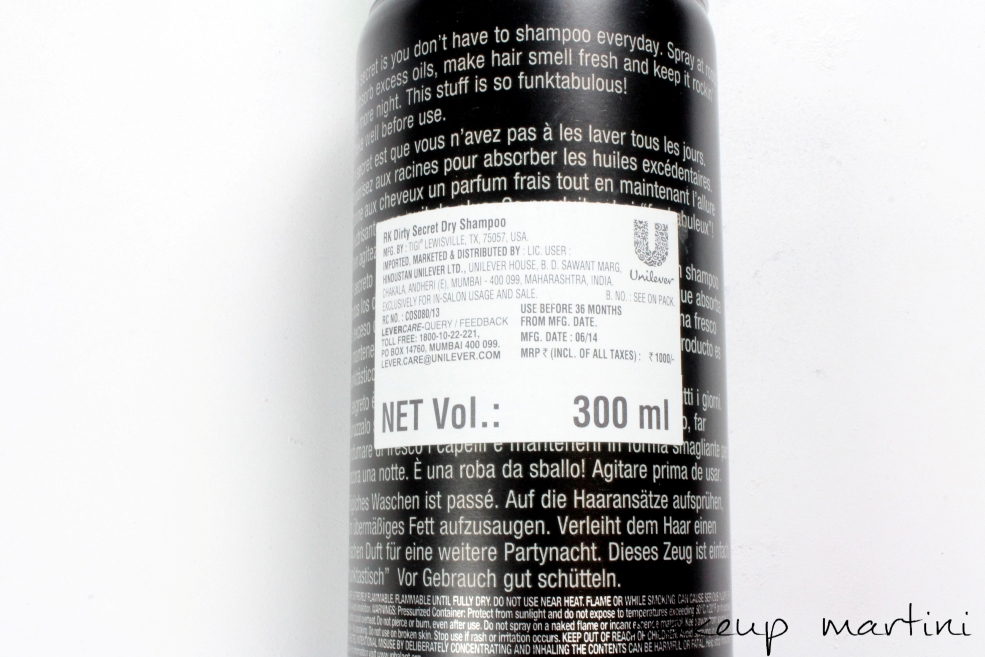 Tigi Bed Head Rockaholic Dirty Secret Dry Shampoo Review (4)