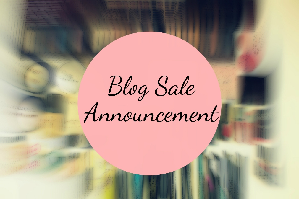Blog Sale Announcement