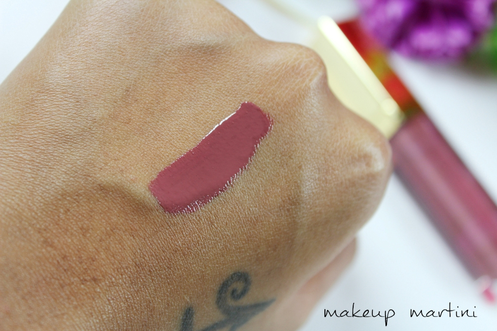 Gerard Cosmetics Plum Crazy Lip Gloss Swatch