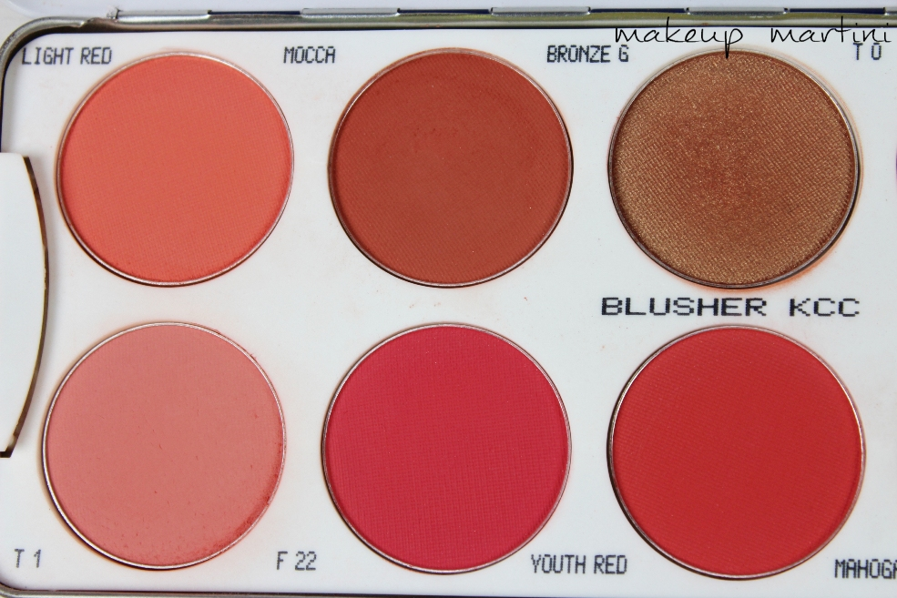 Kryolan Blusher Palette 10 Colors Review (6)