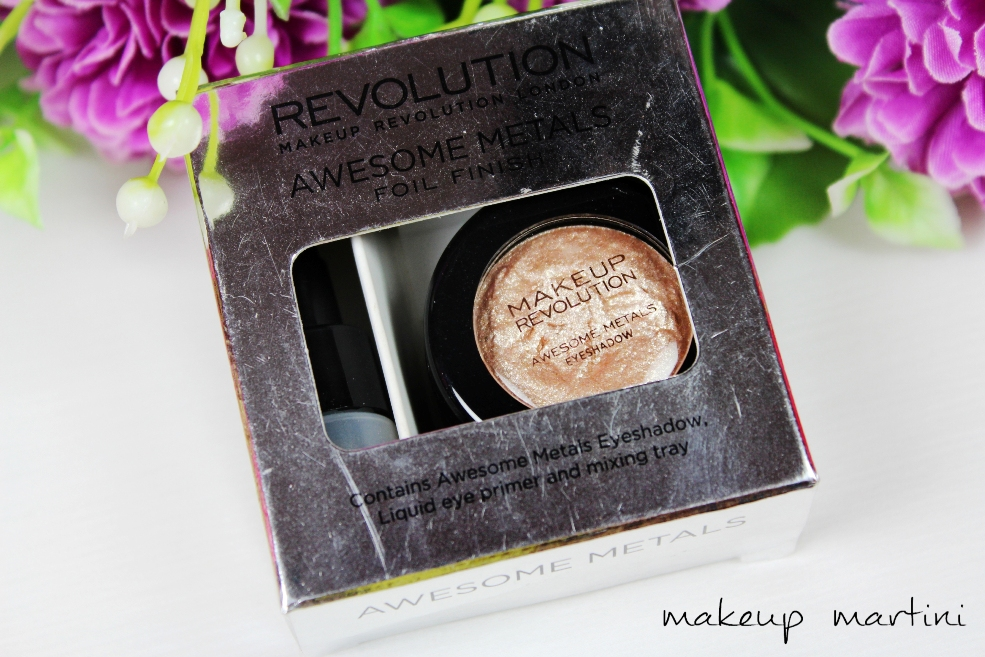 Makeup Revolution Awesome Metals Eye Foils Rose Gold Review (3)