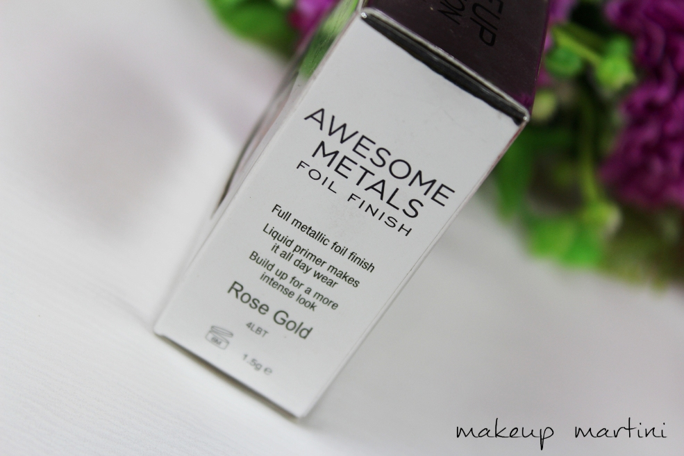 Makeup Revolution Awesome Metals Eye Foils Rose Gold Review (4)
