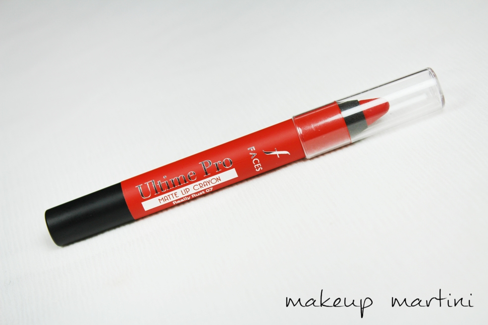 Faces Ultime Pro Matte Lip Crayon in Really Rust 07