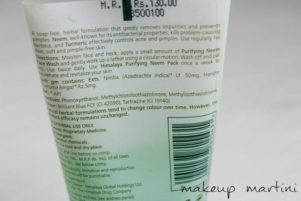 Himalaya Herbals Purifying Neem Face Wash Review (2)