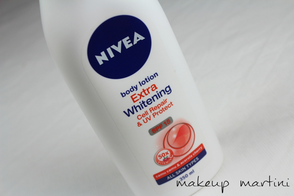 Nivea Body Lotion Extra Whitening Cell Repair aqnd UV Protect SPF 15 Review (2)