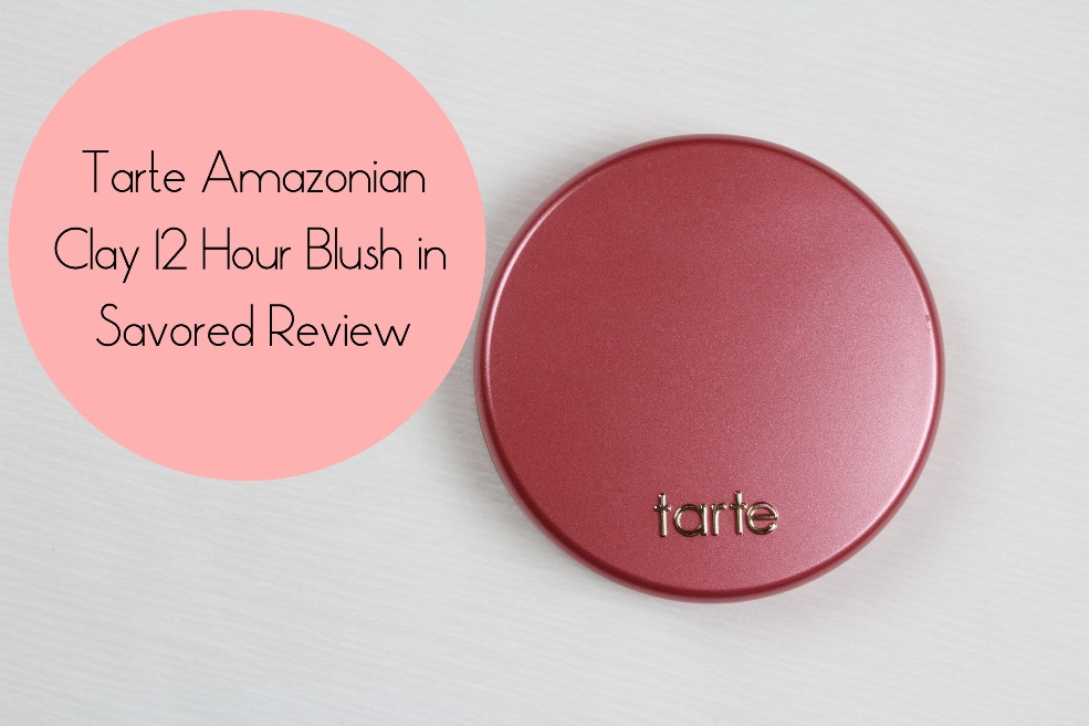 Tarte Amazonian Clay 12 Hour Blush In Savored Review Swatches Amp Price
