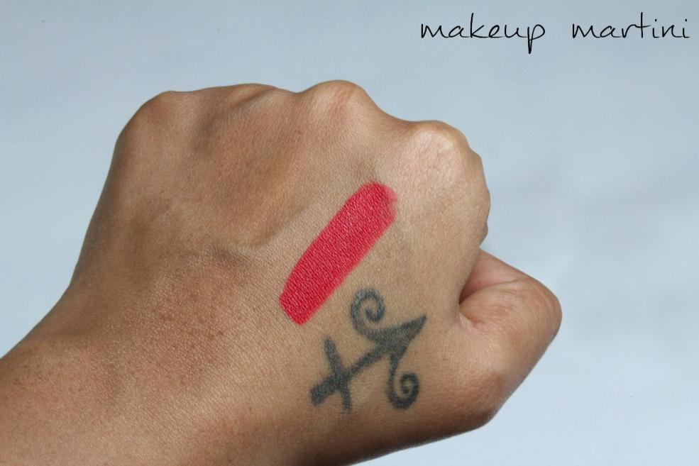 MAC La Vie En Rouge Lipstick Swatch