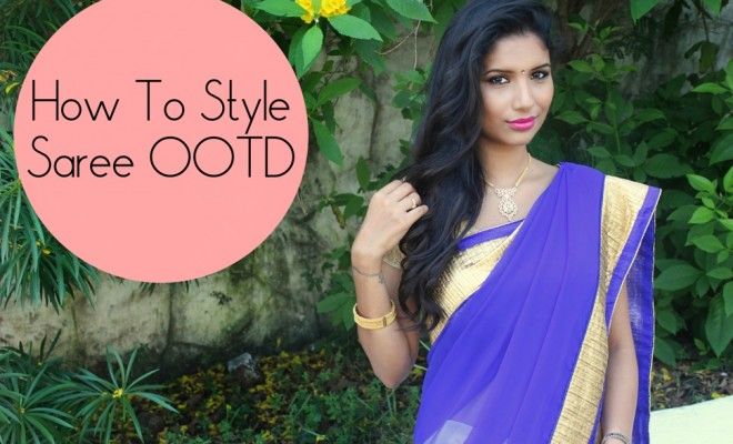 How-To-Style-Saree-OOTD