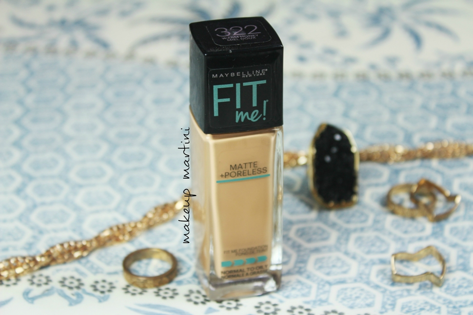 Maybelline Fit Me Foundation 322 Warm Honey Review