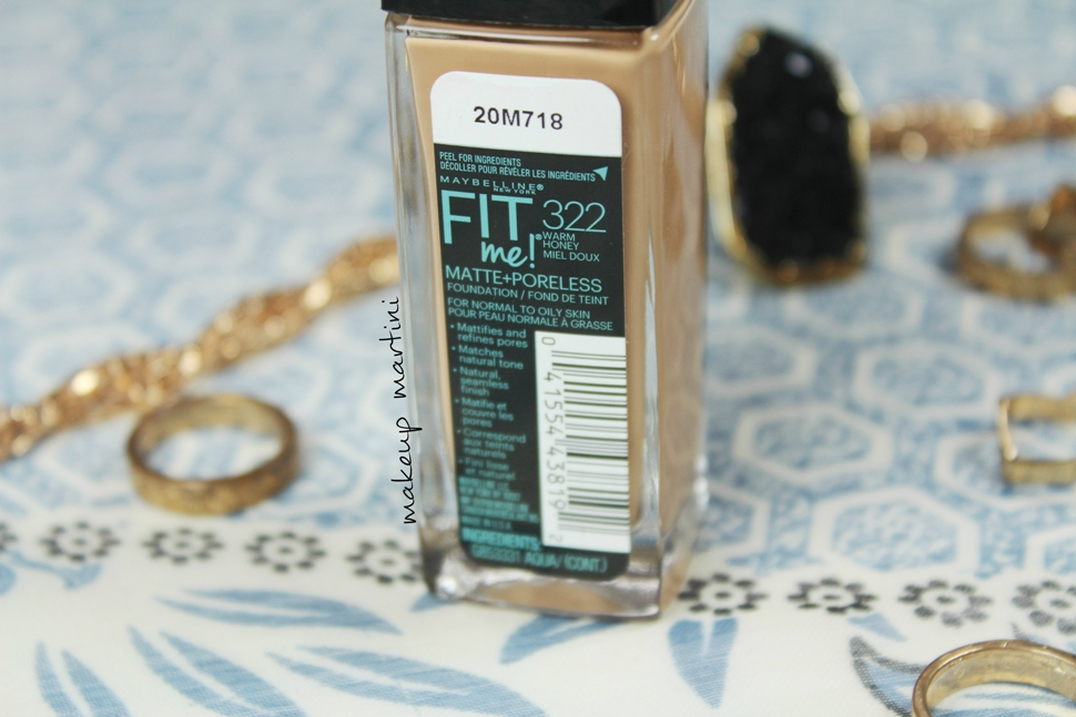 Maybelline Fit Me Matte + Poreless Foundation Price & Ingredients