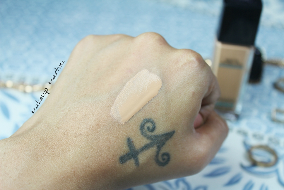 Maybelline Fit Me Foundation Swatch - Before Blending