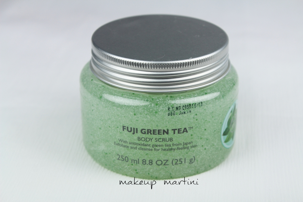 The Body Shop Fuji Green Tea Body Scrub Review