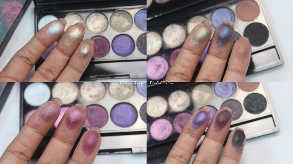 Sleek MakeUP Vintage Romance Palette Swatch