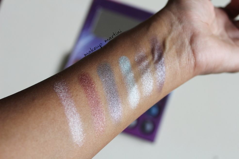 BH Cosmetics Galaxy Chic Palette Swatch