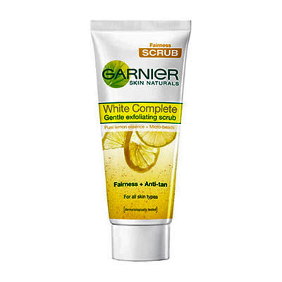Affordable Drugstore Face Scrubs For Oily Skin: Garnier White Complete Gentle Exfoliating Scrub