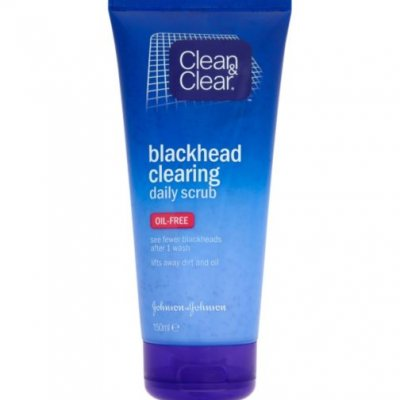 Best Drugstore Face Scrubs For Blackheads: Clean & Clear Blackhead Clearing Daily Scrub