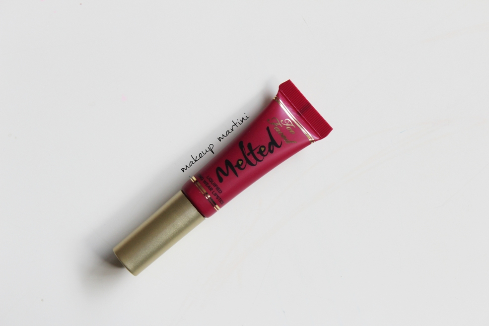 Too Faced Liquid Lipstick Melted Berry Review