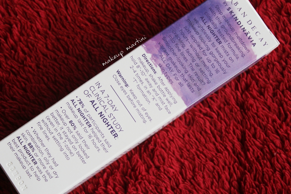All Nighter Setting Spray Urban Decay Review