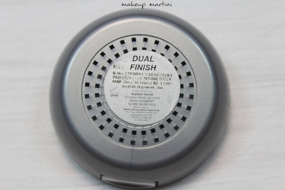 kryolan dual finish powder