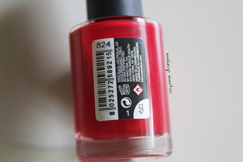 Kiko Milano 824 Quick Dry Nail Polish 824 Review