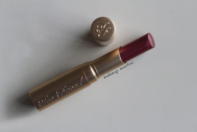 Too Faced Wham La Creme Lipstick Review