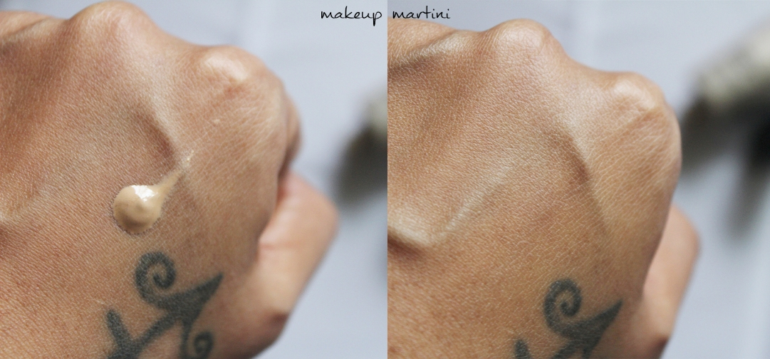 BareMinerals Complexion Rescue Swatch: Before and After Blending